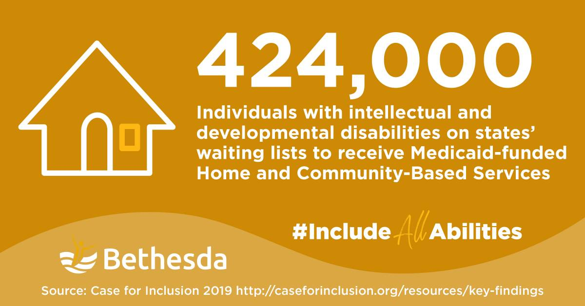 Infographic 424,000 Individuals with intellectual and developmental disabilities on states' waiting lists to receive Medicaid-funded Home and Community Based Services
